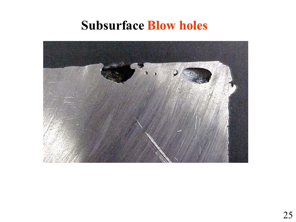 Subsurface Blow holes 25