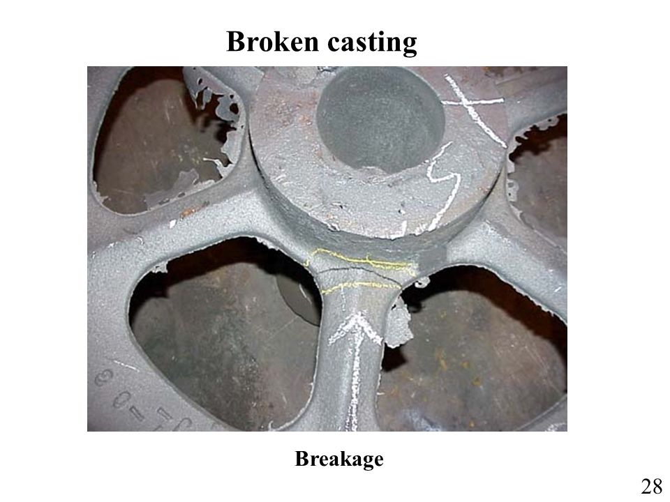 Broken casting Breakage 28